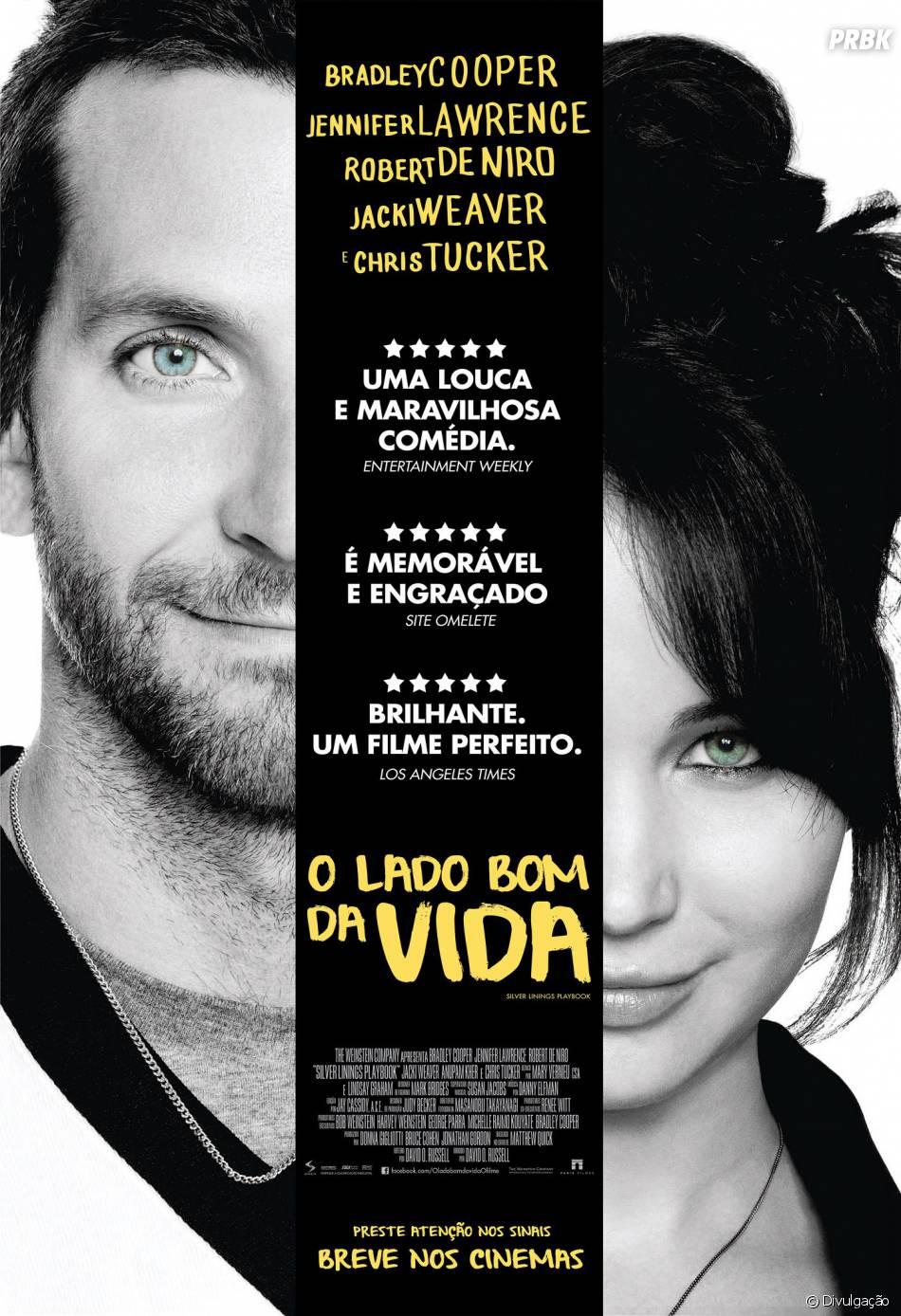 """Estrelado por Jennifer Lawrence, """"O Lado Bom da Vida"""" ficou na décima posição na lista de filmes mais baixados de 2013"""