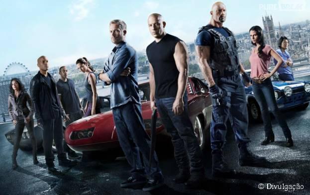 """""""Velozes & Furiosos 7"""", filme mais recente da franquia de ação, chegou aos cinemas em abril de 2015"""