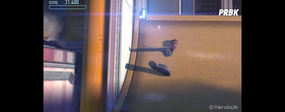 """As paredes, rampas e outros cenários de """"Tony Hawk's Pro Skater 5"""" estão cheios de glitch"""