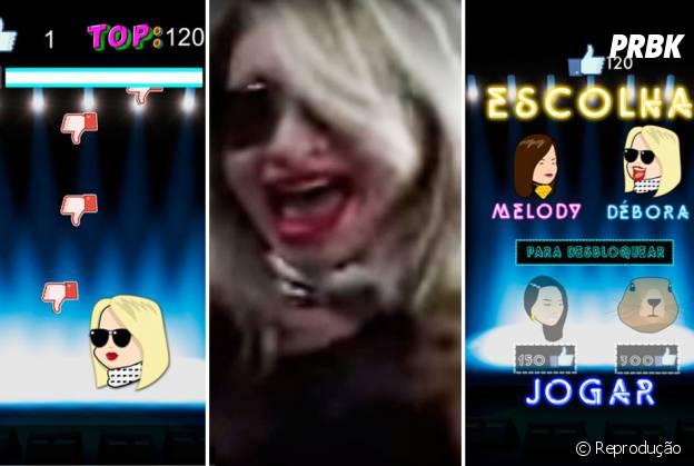 Os falsetes da Mc Melody precisam combater os deslikes nesse game