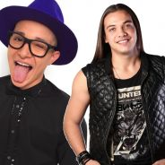 """MC Gui dá uma de Wesley Safadão e canta o hit """"Aquele 1%"""" com Marcos e Belutti!"""