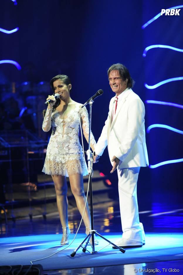 Anitta canta com Roberto Carlos no especial de fim de ano do cantor na Globo!