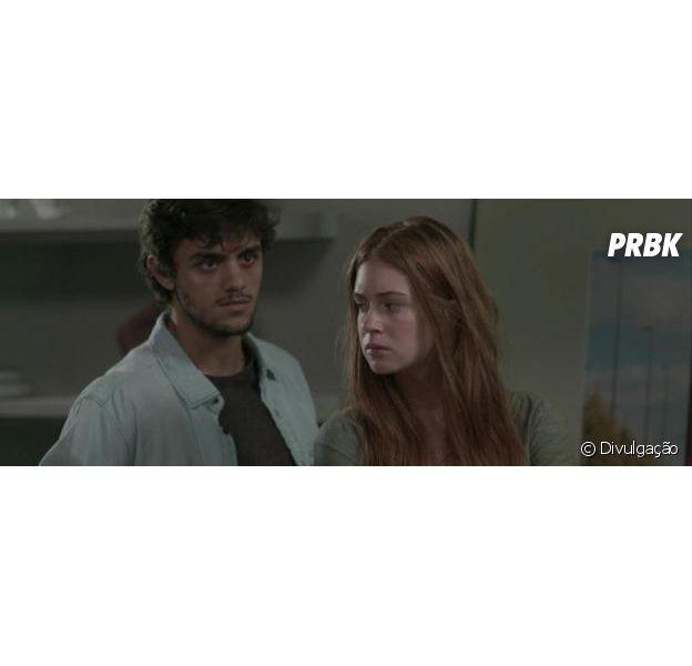 """Em """"Totalmente Demais"""", Jonatas (Felipe Simas) e Eliza (Marina Ruy Barbosa) brigam mais uma vez por causa de Arthur (Fábio Assunção)!"""