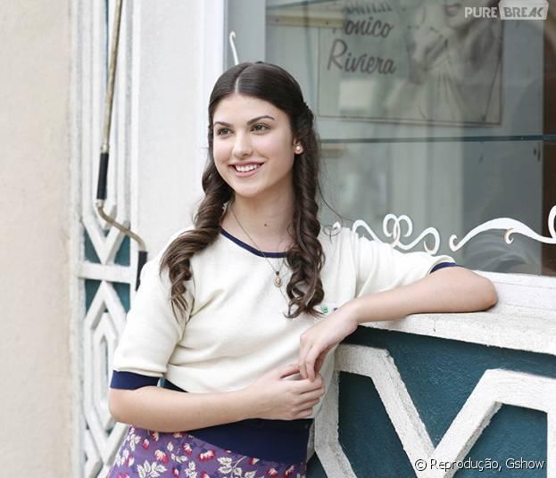 """Pela primeira vez,Giovanna Grigio aparece caracterizada como sua personagem em """"Êta Mundo Bom"""""""