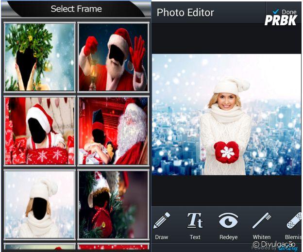 Aplicativos para deixar as suas fotos no clima de Natal:Christmas Photo Montage