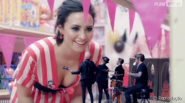 """Demi Lovato no clipe do hit """"Irresistible"""""""