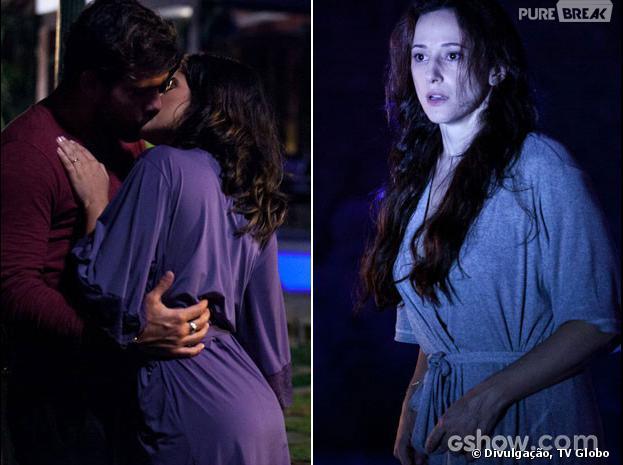 """Em """"Amor à Vida"""", Rebeca (Paula Braun) vai flagrar Ninho (Juliano Cazarré) e Aline (Vanessa Giácomo)"""