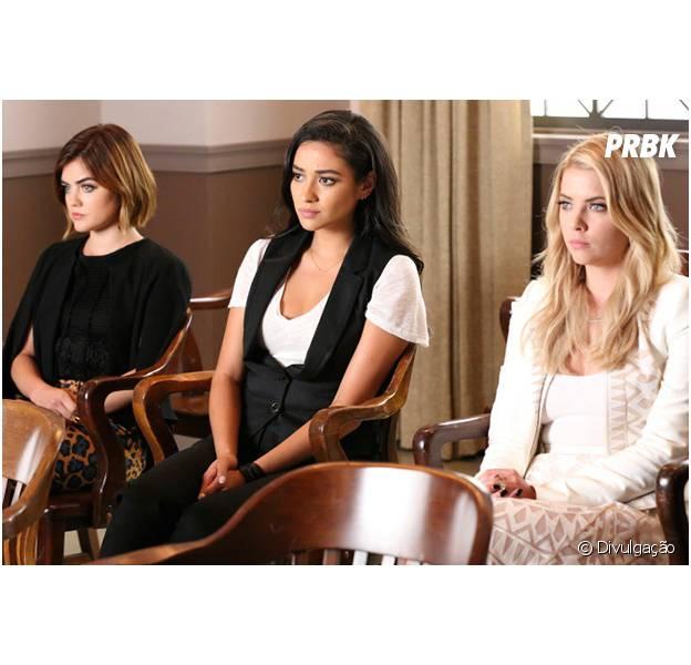 """Em """"Pretty Little Liars"""": Charlotte (Vanessa Ray) é assassinada e retorno de Aria (Lucy Hale), Hanna (Ashley Benson) e meninas marcam episódio!"""