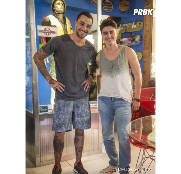 """Em 'Malhação"""", Tito (Guilherme Leicam) e Samurai (Felipe Titto) são melhores amigos!"""