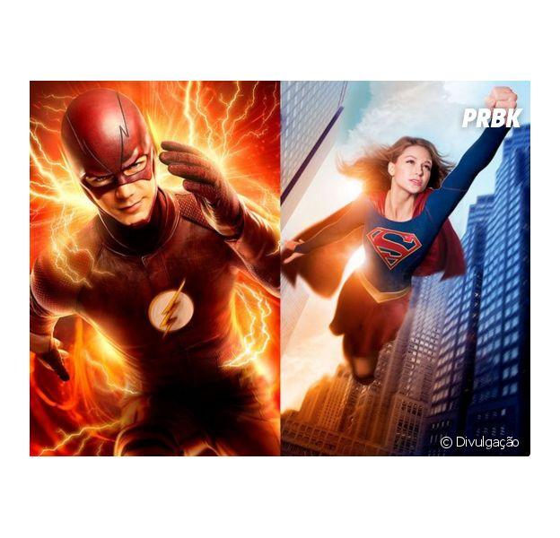 """De """"The Flash"""" e """"Supergirl"""", crossover entre as séries de Barry (Grant Gustin) e Kara (Melissa Benoist) é confirmado pela DC Comics!"""