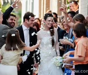 """Gina (Carolina Kasting) terá um filho de Elias (Sidney Sampaio) em """"Amor à Vida"""""""