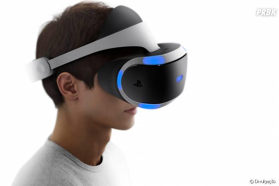 Com o PlayStation VR, da Sony, você poderá entrar nos jogos através da realidade virtual
