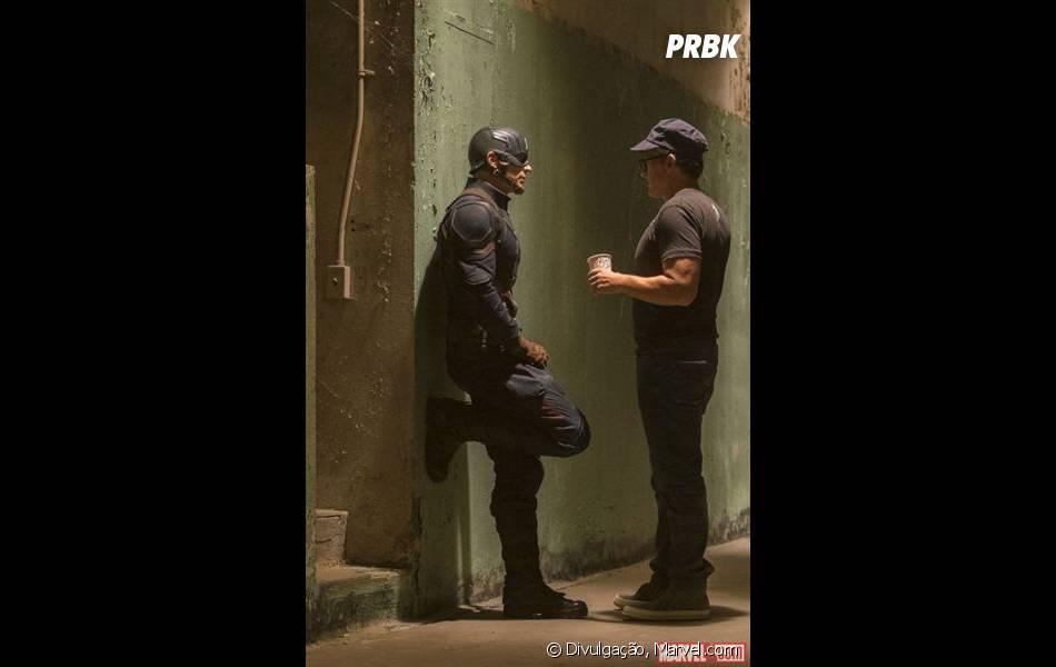 """As novas fotos de """"Capitão América 3: Guerra Civil"""" também mostram os bastidores da produção"""