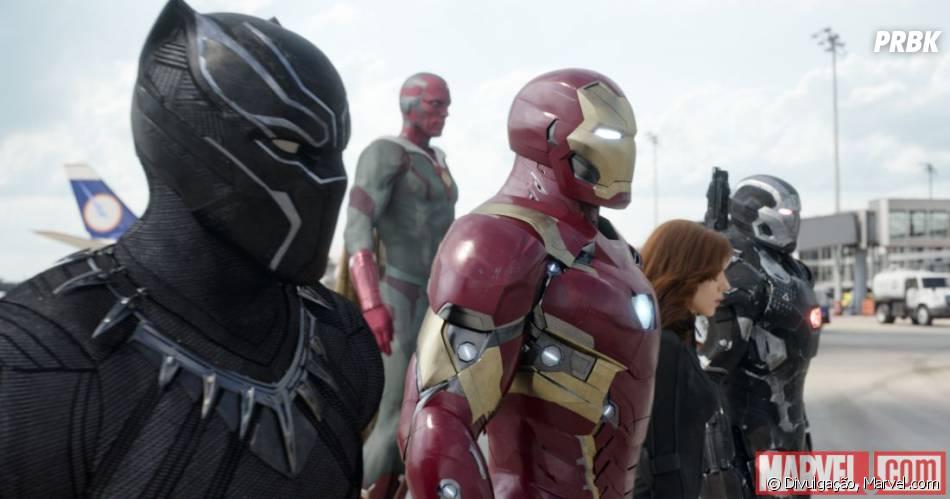 """Capitão América 3: Guerra Civil"" vai narrar a briga entre Steve Rogers (Chris Evans) e Tony Stark (Robert Downey Jr.)"