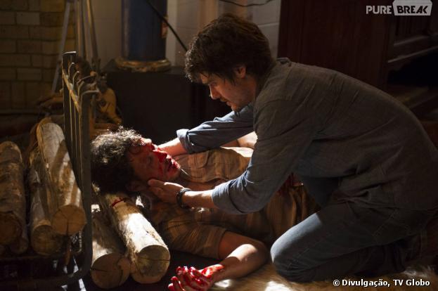 """Laerte (Guilherme Leicam) acreditará que matou Virgílio (Nando Rodrigues) na novela """"Em Família""""!"""