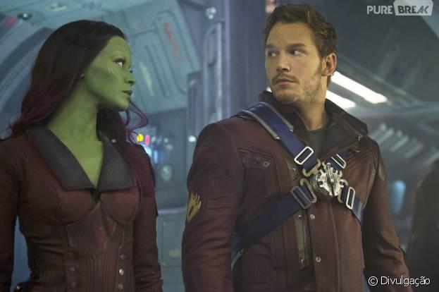 """Zoe Saldana posta vídeo com Chris Pratt em set de filmagens de """"Guardiões da Galáxia Vol. 2"""""""
