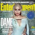 """De """"Game of Thrones"""": na 6ª temporada, Emilia Clarke (Daenerys) estampa uma das capas da Entertainment Weekly"""