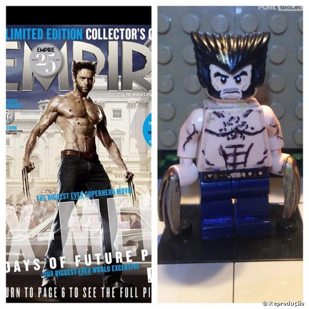 """Capa de Wolverine em """"X-Men"""" recriada em Lego"""