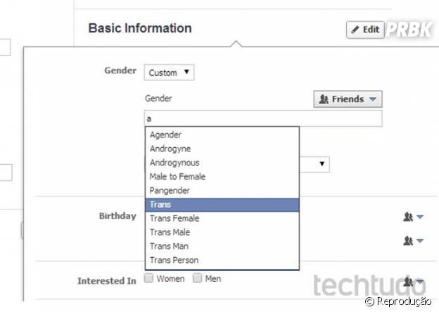 Facebook inclui novas opções de gênero