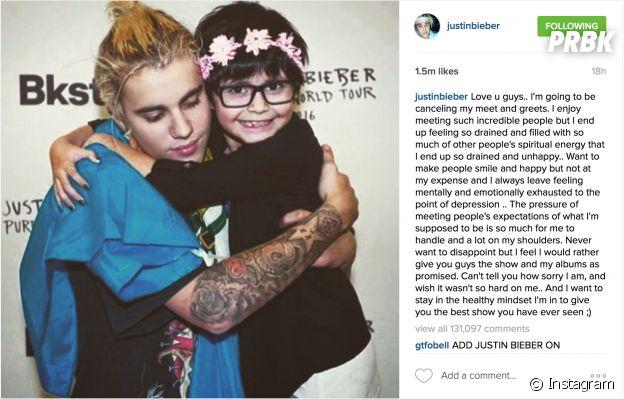 """Justin Bieber causou polêmica ao cancelar os Meet & Greets da """"Purpose World Tour"""""""