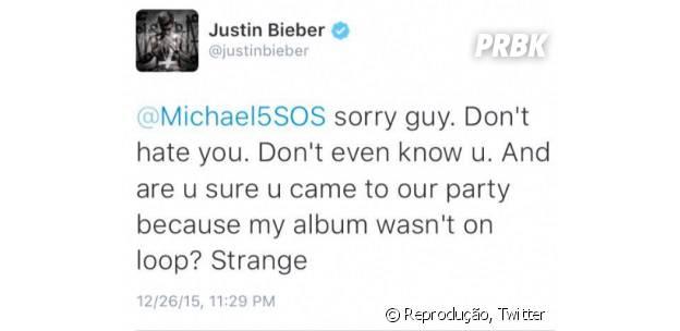 Justin Bieber responde 5 Seconds of Summer