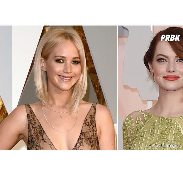 Jennifer Lawrence revela que Emma Stone a ajudou, após beber demais!