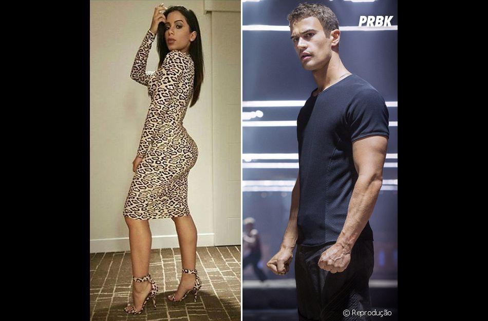 """Em entrevista, Anitta já revelou que seu crush famoso é Theo James, astro da saga """"Divergente"""""""