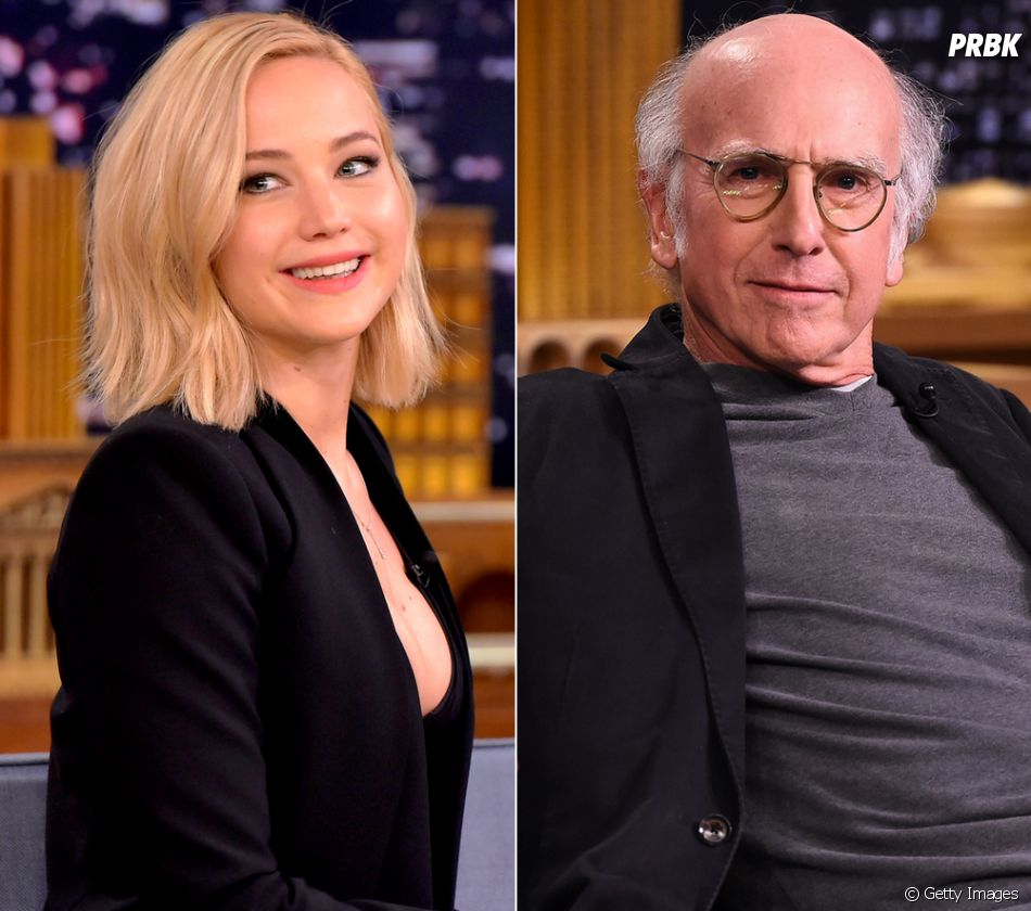Jennifer Lawrence tem tanto crush em Larry David, que já até deu mole para o veterano de Hollywood