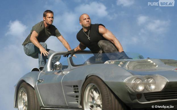 """Paul Walker e Vin Diesel estrelam franquia """"Velozes e Furiosos"""""""