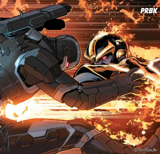 """Em """"Guerra Civil II"""", Máquina de Combate morre em luta contra Thanos!"""