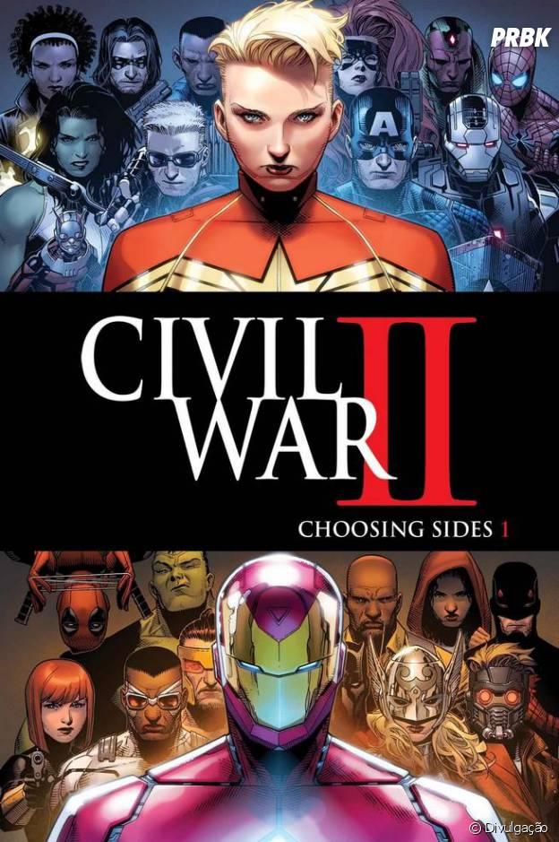 """Em """"Guerra Civil II"""", Capitã Marvel e Homem de Ferro estão em lados opostos da briga dessa vez"""