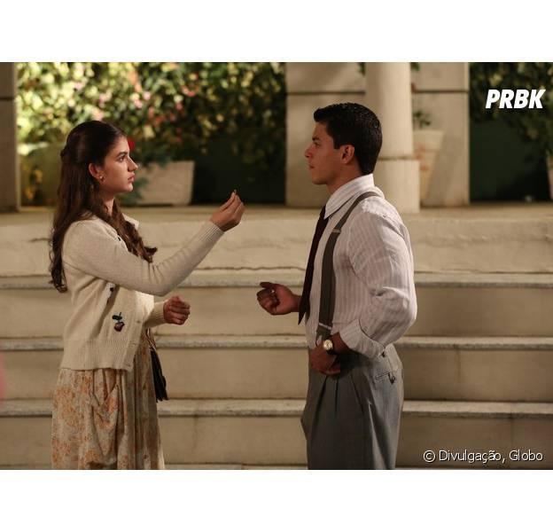 """Em """"Êta Mundo Bom!"""", Gerusa (Giovanna Grigio) termina noivado com Osório (Arthur Aguiar)!"""