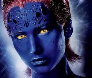 "Jennifer Lawrence interpreta a mutante Mística, em ""X-Men: Apocalipse"""