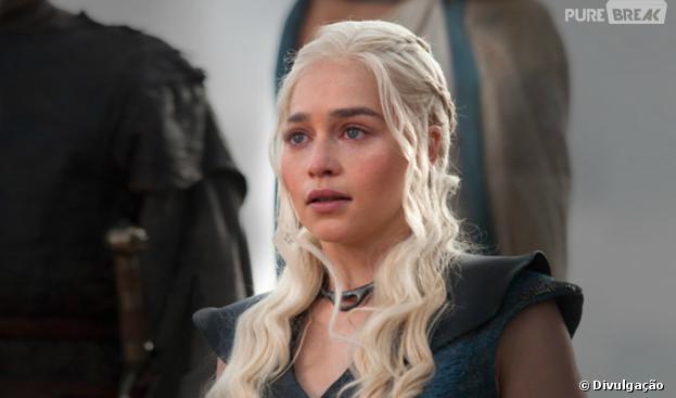"""Daenerys Targaryen (Emilia Clarke) é uma das protagonistas de """"Game of Thrones"""""""