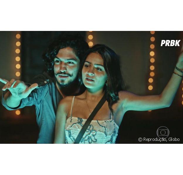 """Em """"Velho Chico"""", Olívia (Giullia Buscacio) diz que está dividida entre Miguel (Gabriel Leone) e Lucas (Lucas Veloso)"""