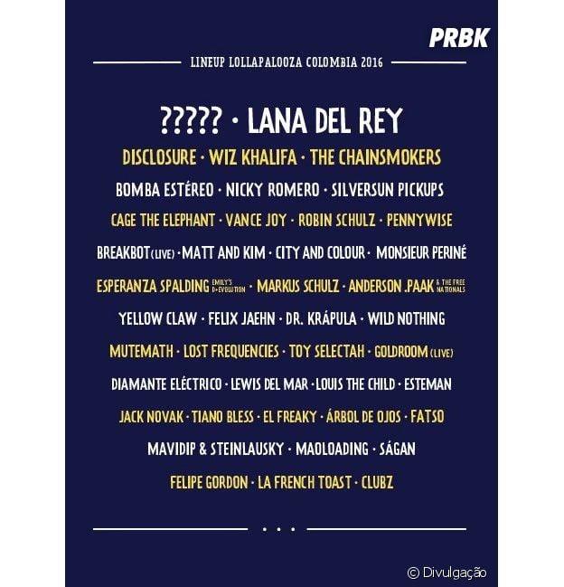 Rihanna não está mais confirmada no Lollapalooza Colômbia
