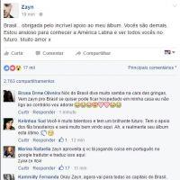 Zayn Malik, ex-One Direction, manda recado aos fãs brasileiros e vira Trending Topic no Twitter!