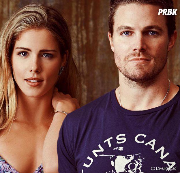"""Em """"Arrow"""": Oliver (Stephen Amell) e Felicity (Emily Bett Rickards) podem voltar a ficar juntos, segundo ator"""