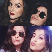 """Camila Cabello, do Fifth Harmony, é tietada por Kéfera Buchmann, do """"5inco Minutos"""", e Nah Cardoso!"""