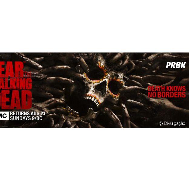 "De ""Fear The Walking Dead"", zumbis atacam caveira em pôster para a Comic-Con 2016"