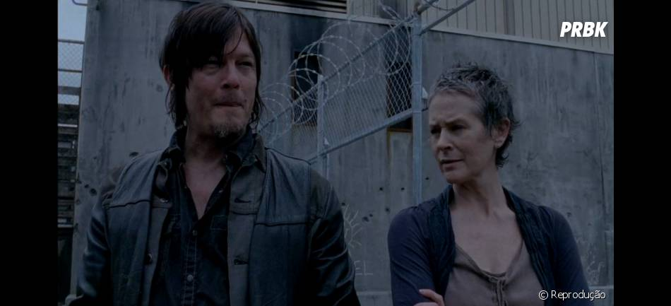 """Em """"The Walking Dead"""",Carol (Melissa McBride) e Daryl (Norman Reedus) vivem tensão amorosa"""