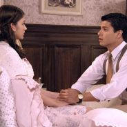 """Novela """"Êta Mundo Bom!"""": casamento de Gerusa (Giovanna Grigio) e Osório é adiado após novo desmaio!"""