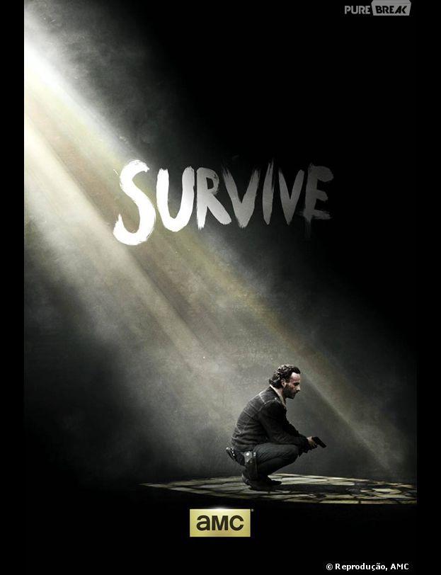 """Novo pôste de """"The Walking Dead"""", na quinta temporada, Rick (Andrew Linconl) será um dos sobreviventes!"""