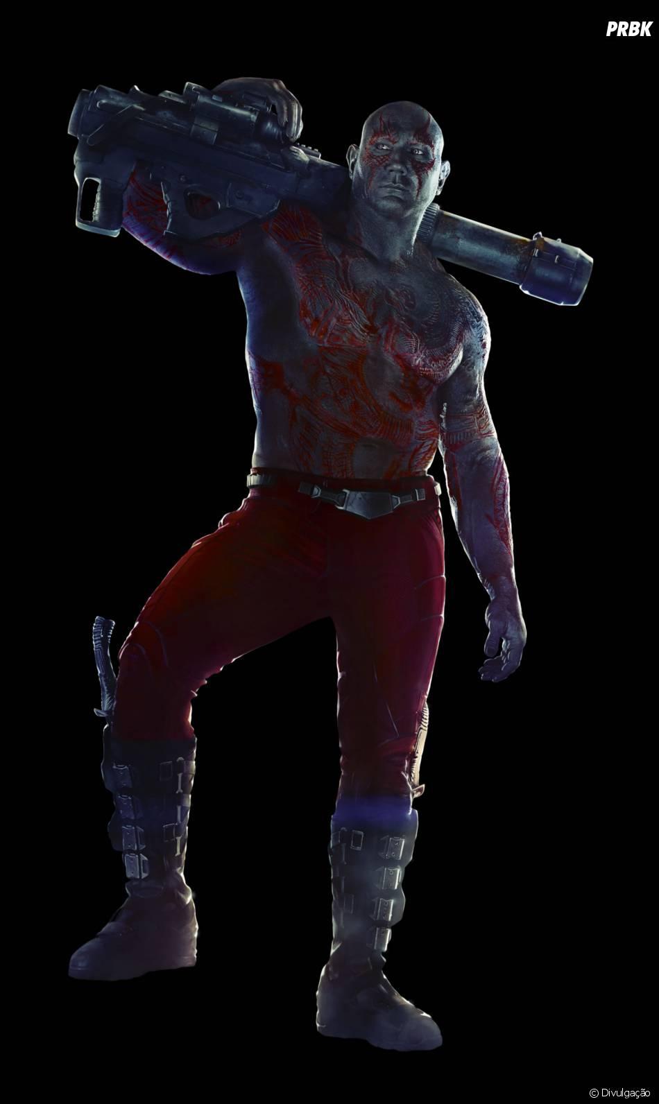 """Drax, o Destruidor, é vivido por Dave Bautista em """"Guardiões da Galáxia"""""""