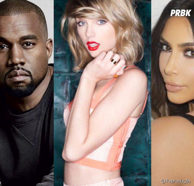 Kanye West, Taylor Swift e Kim Kardashian estão no meio de uma das maiores tretas de 2016!