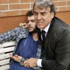 """Novela """"Haja Coração"""": Giovanni (Jayme Matarazzo) leva facada ao defender Aparício!"""