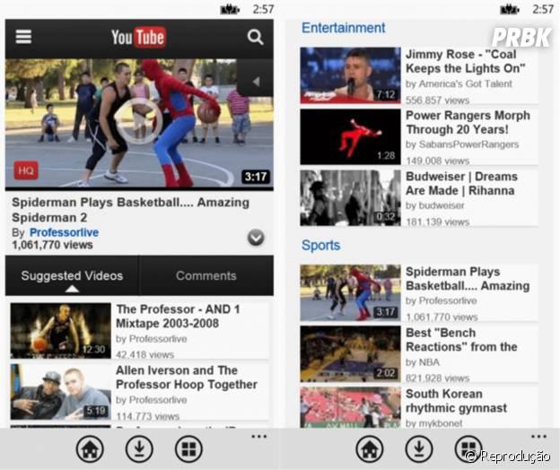 Free youtube Downloader é exclusivo para Windows Phone