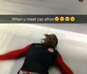 Simone Biles surta ao conhecer Zac Efron