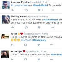 """Banda Malta anuncia Luana Camarah como nova vocalista no """"Encontro com Fátima Bernardes""""!"""