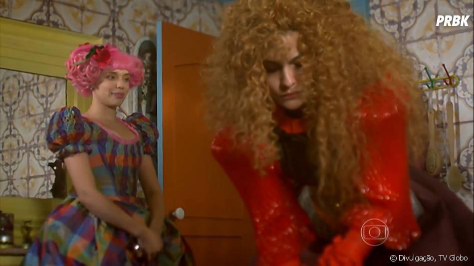 """Juliana (Bruna Linzmeyer) tenta convencer Gina (Paula Barbosa) a se arrumar mais em """"Meu Pedacinho de Chão"""""""